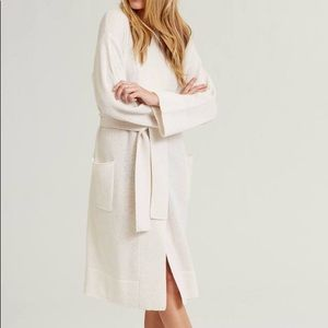 NEW Naked Cashmere Yves Robe in Chalk